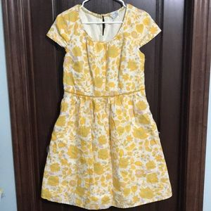 Biden Yellow Floral Dress